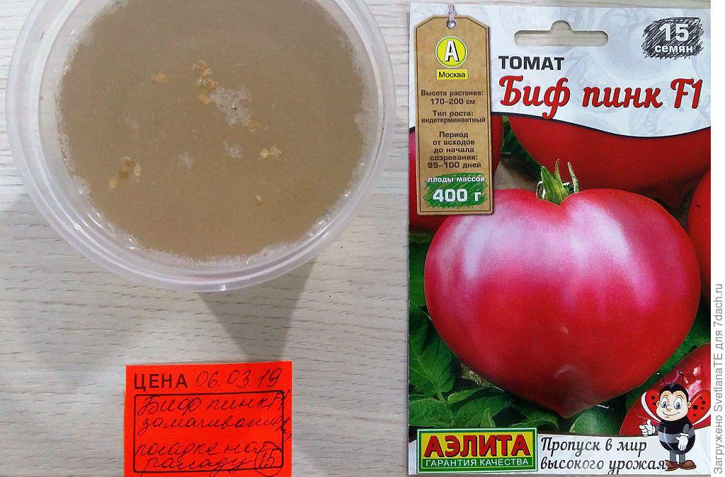 замачивание семян томатов в солевом растворе