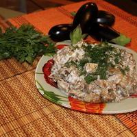 "Салат из баклажан "" Грибочки на даче"""