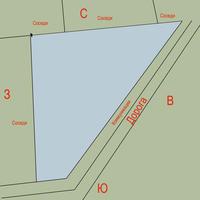 Помогите распланировать участок треугольной формы