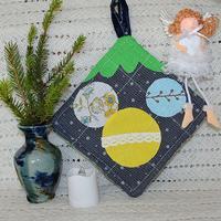 Новогодние подарки своими руками: прихватки-красотки за час