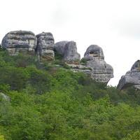Крымские ассоциации: Сфинксы Каралезкой долины и гора Крокодил, Бахчисарайский район