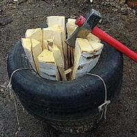 Как наколоть машину дров за 4 часа