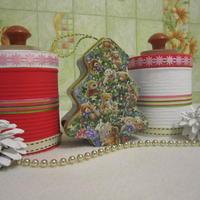 Новогодние декоративные баночки!