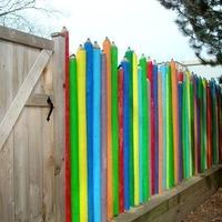 """Забор из """"карандашей"""""""