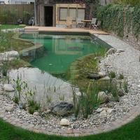 Шикарный пруд у дома