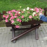 Деревянные цветочницы