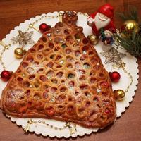 """Пирог с мармеладом """"Новогодняя ёлка"""""""