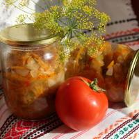 Овощная солянка с грибами