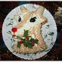 """Салат """"Новогодняя Коза"""""""