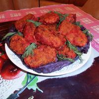 Мясные котлеты с овощными добавками