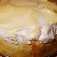 Блинный пирог яблочно-банановый