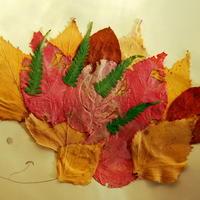 Осенние поделки на моей даче — из листьев, веточек и сыра