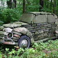 Машина на даче