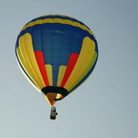 На большом воздушном шаре!