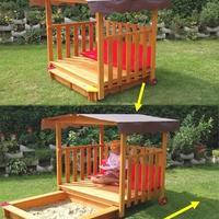 Нужна пошаговая инструкция строительства детской песочницы с крышей