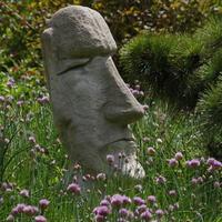Натуральный камень в дизайне: скульптура, мебель, арт-объекты для оформления участка