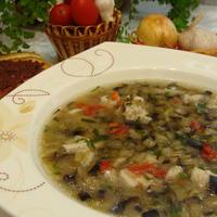 Суп куриный с баклажанами