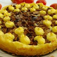 Пирог картофельный с лисичками