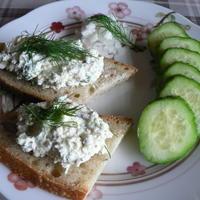 Творожная луковая масса для бутербродов