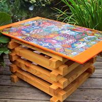 Как сделать садовый стол в фольклорном стиле