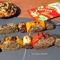 """Фаршированные овощи на гриле с кетчупом Лечо """"Махеевъ"""""""