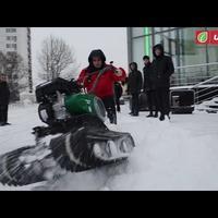 Снегоход из мотоблока - видео покатушек
