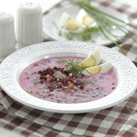 Холодный свекольный суп с говядиной