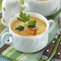 Молочный суп-пюре с репой, морковью и сельдереем
