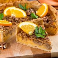 Тыквенный пирог с апельсином