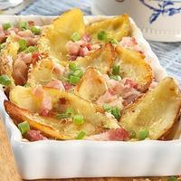 Запеченный картофель с беконом
