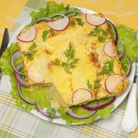 Капустная лазанья с фаршем и овощами