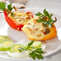 Сладкий перец, фаршированный моцареллой - встречаем весну ярким вкусом