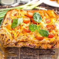 Вкуснейшая лазанья с помидорами и ветчиной - убедитесь в этом сами