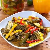 Летние овощи зимой. Заготовка из огурцов и сладкого перца
