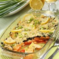 Рыбная запеканка со шпинатом - рецепт семейного ужина