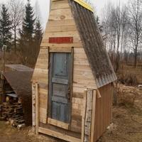Наша новая постройка из поддонов)))
