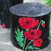 Садовая мебель: комплект из пней