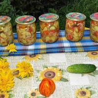 Салат из огурцов переростков