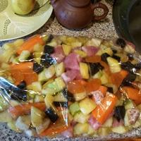 Мясо с овощами в мешке