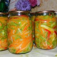 Салат из зелёных помидоров - пальчики оближешь!