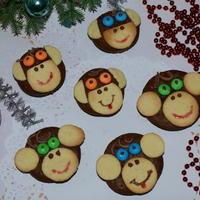 """Новогоднее печенье """"Обезьянки"""""""
