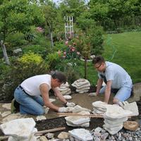 Природный камень - известняк для садовых дорожек