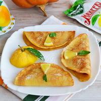 Тыквенные блинчики с лимонным джемом