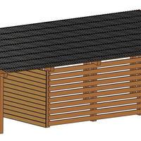 Из чего можно построить самый бюджетный сарай-дровяник?