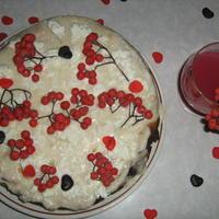 """Творожный торт """"Рябина на снегу"""""""