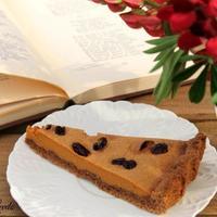 Шоколадно-карамельный тарт с вишней