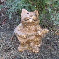 Мои работы из бетона: коты и совушка
