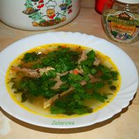 Ароматный суп из баранины с зеленью