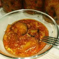 Остро-сладкие баклажаны с болгарским перцем
