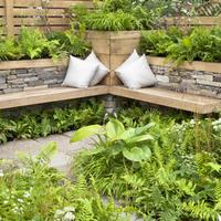Необычная дачная мебель своими руками: используем природный камень, бетон и дёрн